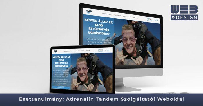 AdrenalinTandem Tandemugrás Weboldal-Esettanulmány