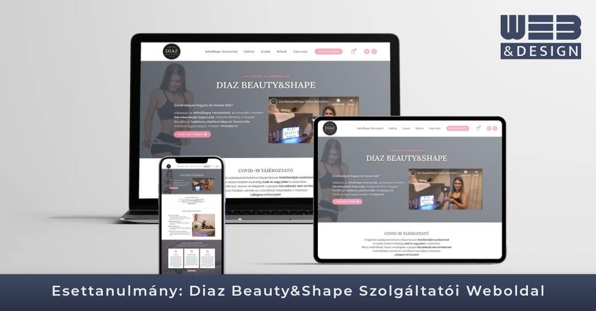 diaz-shape.hu_weboldal esettanulmány_webandesign